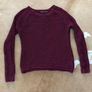 Brandy Melville Burgundy Knit Sweater